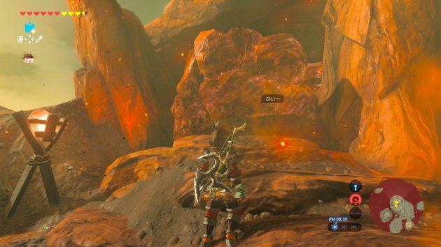保管庫の入り口は岩で塞がれている