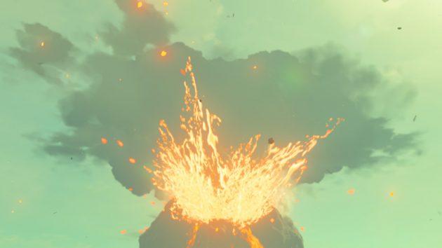 神獣ヴァ・ルーダニア、火山口に落ちる