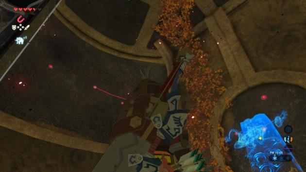 4つ目の制御端末部屋にある枯れ葉