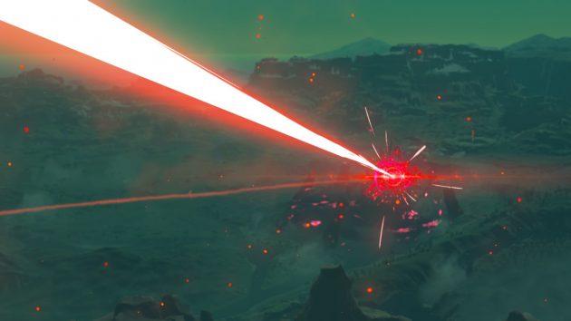 神獣ヴァ・ルーダニア、ハイラル城へレーザービーム発射