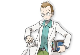 ポケモン金銀のウツギ博士
