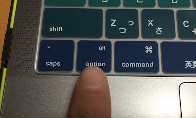 optionキーでWindows10、Macを切り替え