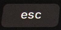 タッチバーの[Escape]ボタン