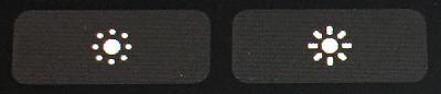 タッチバーの[ディスプレイの明るさ調節]ボタン