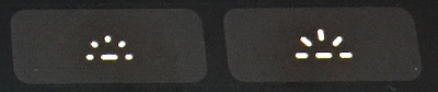 タッチバーの[キーボードバックライト調節]ボタン