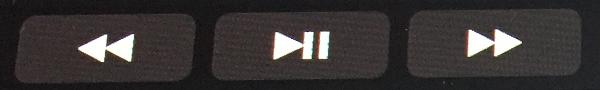 タッチバーの[再生]ボタン