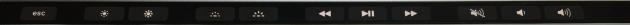 タッチバー、BootCamp時のデフォルトボタン