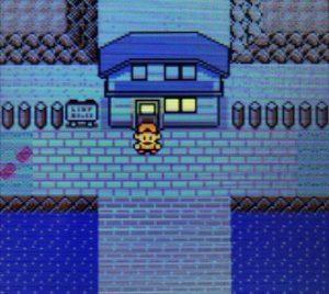 マサキの家の前に立つ主人公