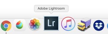 MacでのLightroomのドックアイコン