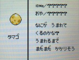ポケモンのタマゴのステータス画面