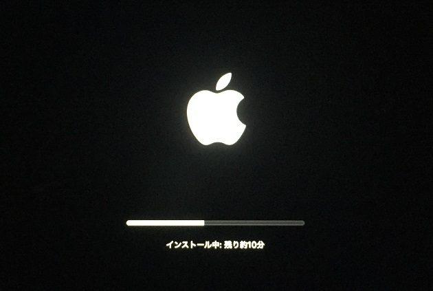 macOS High Sierraの再インストール画面⑥