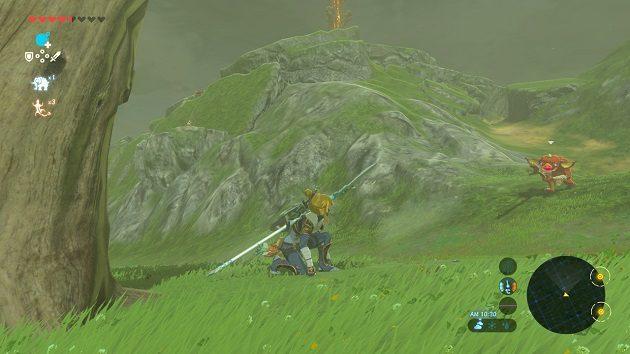 湖の塔の前の攻防戦