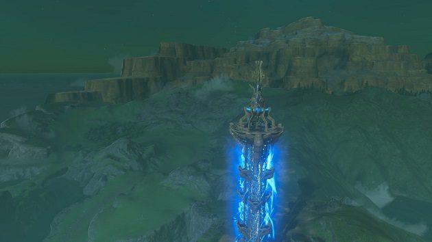 湖の塔の周辺の景色