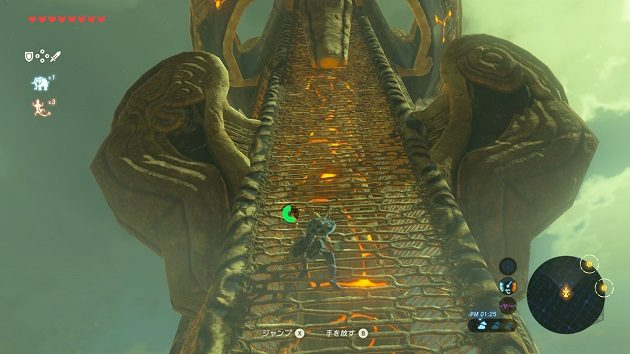 必死に塔を登るリンク