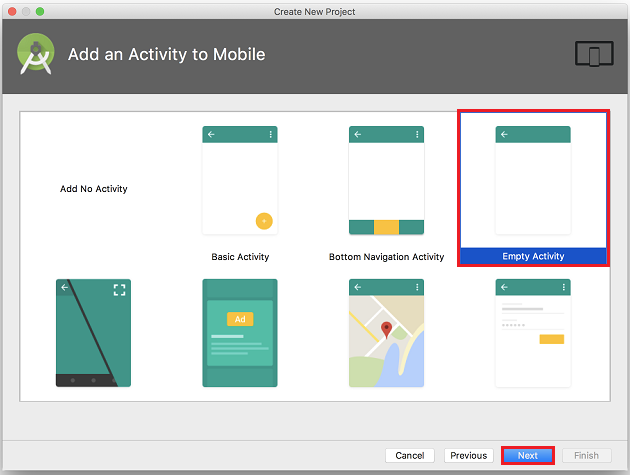 Add an Activity to Mobile