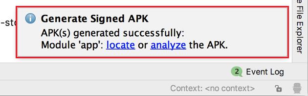 リリース版APKの作成完了