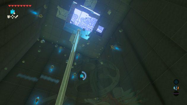 ヤ・ナーガの祠の天井を爆破