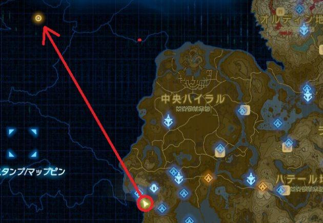 リト族の地方のマップ