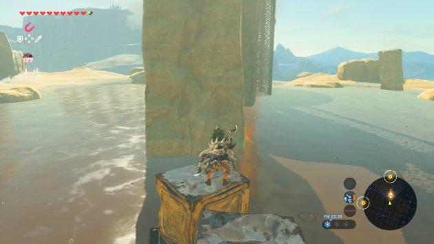 荒野の塔へと進むリンク