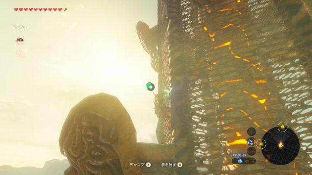 荒野の塔を登るリンク