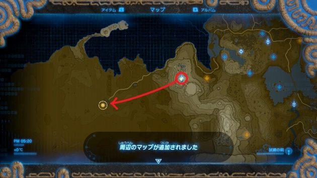 ゲルド地方のマップを入手