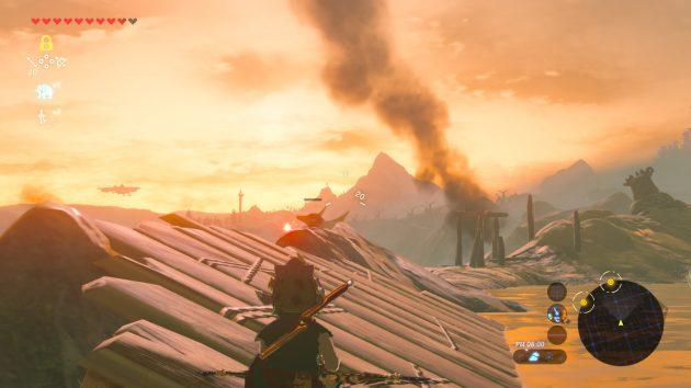 木の矢に倒れる炎の魔法使い
