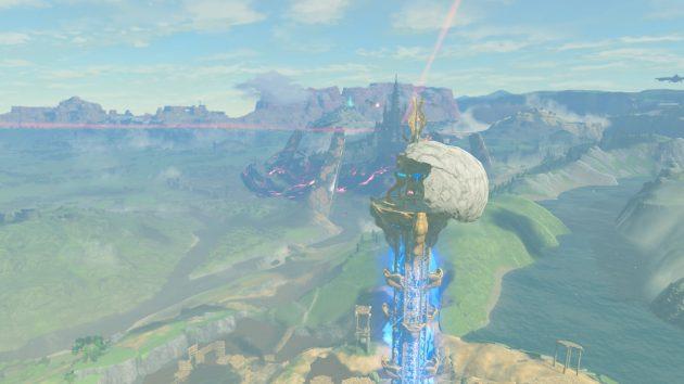 森林の塔の周辺の風景