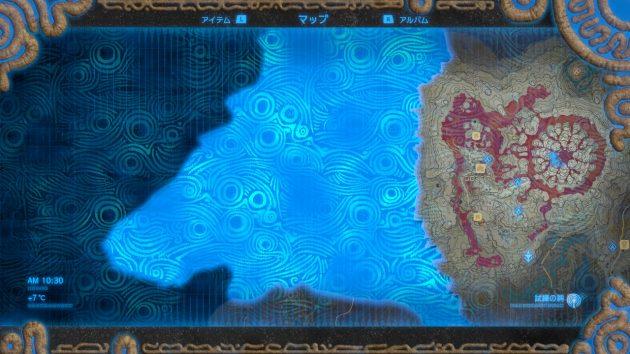 森林の塔の周辺マップが開放される