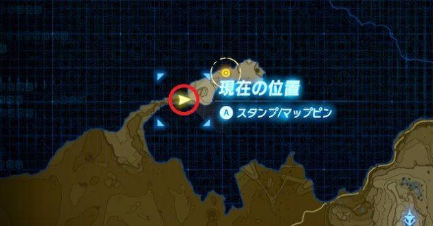 イーガ団のアジトの手前(マップ)