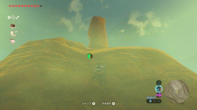 東ゲルド高地の岩を登るリンク