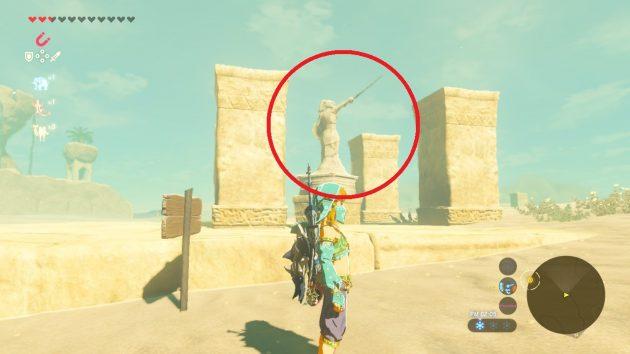 ゲルド砂漠にある小さな石像