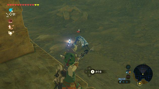 アイスマジシャンを弓で攻撃するリンク