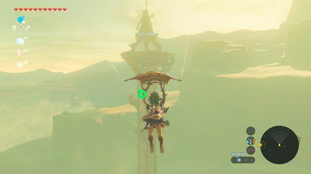 ゲルドの塔へパラセール