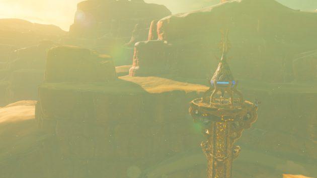 夕日に照らされるゲルドの塔