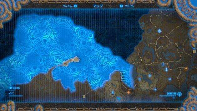 ゲルドの塔周辺のマップを入手