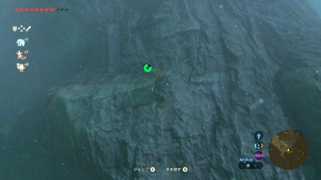 迷いの森で高台を目指すリンク