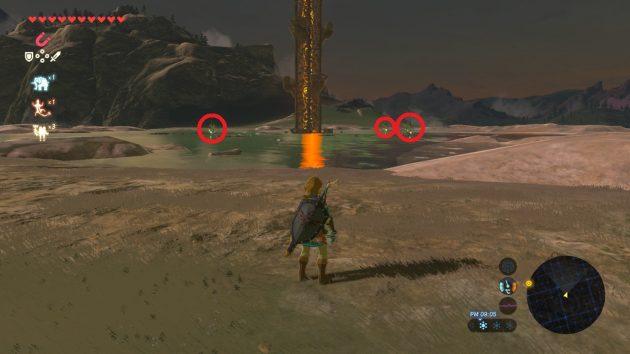 塔を囲む3体の雷の魔法使い