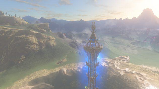 起動する丘陵の塔