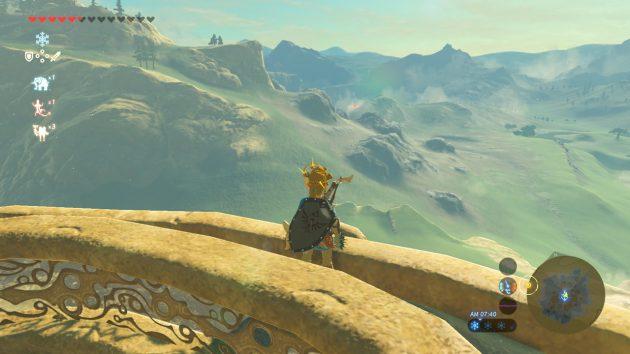 丘陵の塔からのスタート