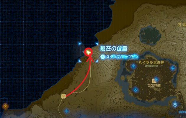 マップ未開放の土地へと入るリンク