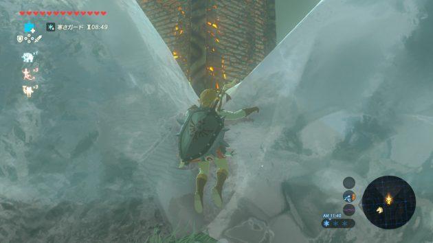 ヘブラの塔の回りの氷