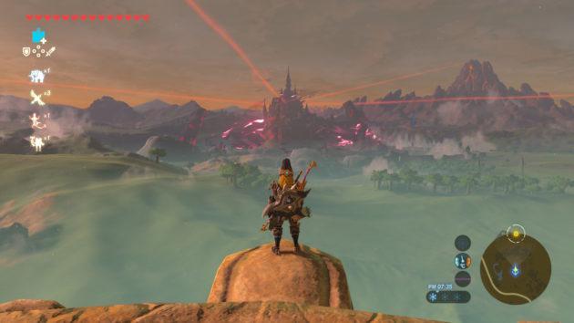 平原の塔から見えるハイラル城