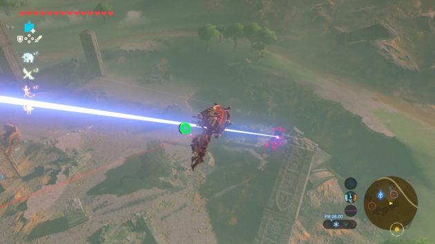 平原の塔でガーディアンの攻撃を受ける