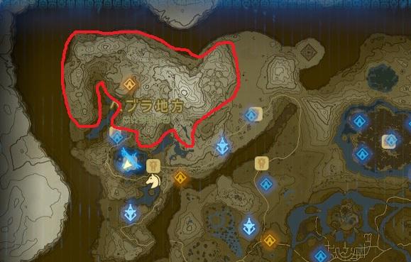 ヘブラ山脈周辺のマップ