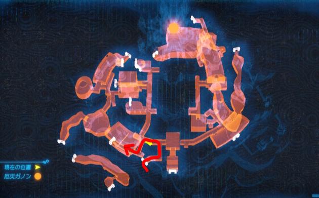 マップのハイラル城、訓練所の場所