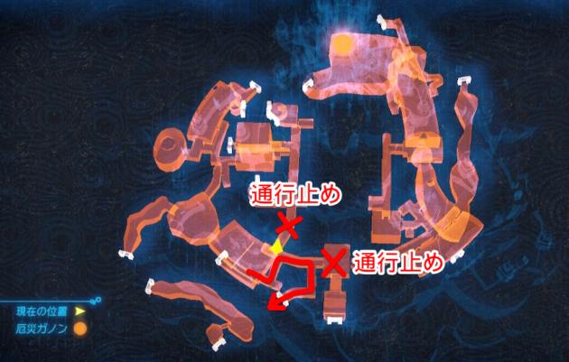 ハイラル城室内のマップ