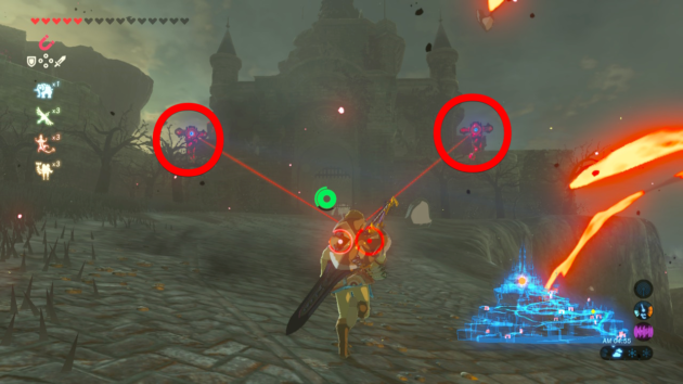 三つ丸を守る2体のガーディアンに挑むリンク