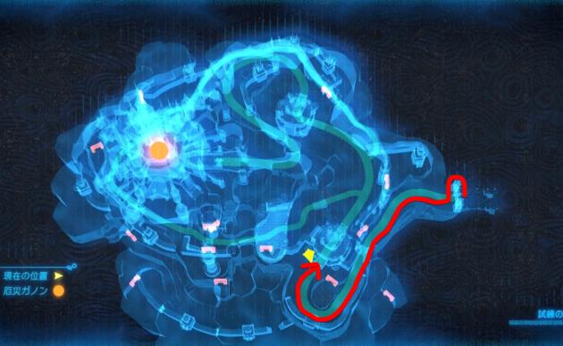 マップのハイラル城、三つ丸