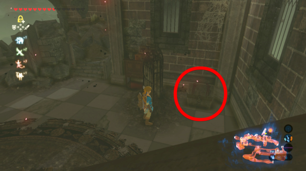 ゼルダ姫の部屋の中の宝箱