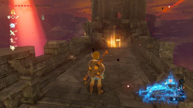 ゼルダ姫の部屋の近くで思い出の場所の光を発見